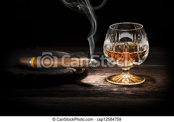 Cognac and cigar - csp12584759
