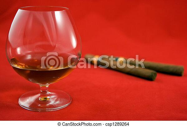 Cognac and cigars - csp1289264