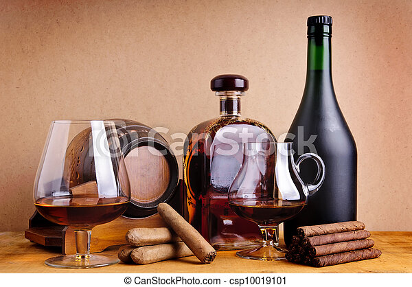 cognac and cigars - csp10019101