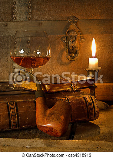 Cognac and pipe - csp4318913