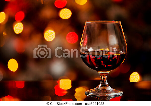 Cognac in front of a bokeh background - csp8221028