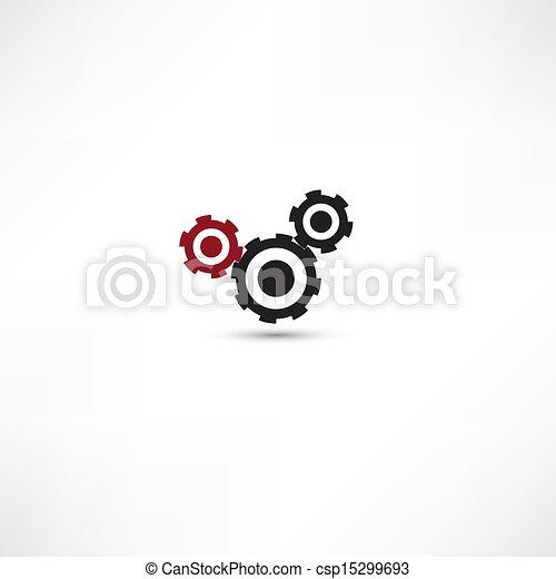 cogs, branca, experiência preta, (gears) - csp15299693