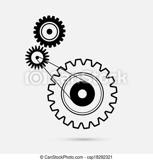 Cogs - Gears Illustration - csp18292321