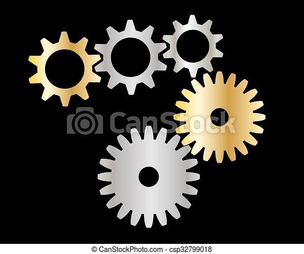 cogs (gears) - csp32799018