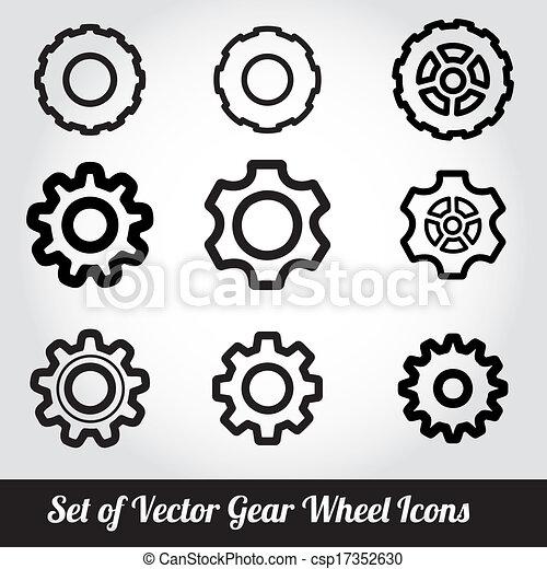 Cogs / gears vector - csp17352630