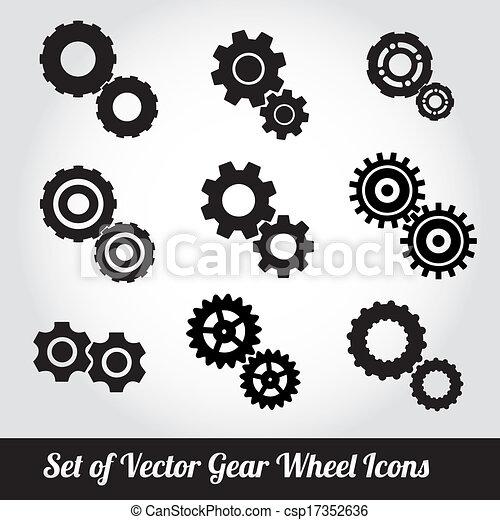 Cogs / gears vector - csp17352636