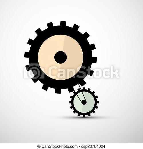 Cogs Gears Vector Illustration - csp23784024