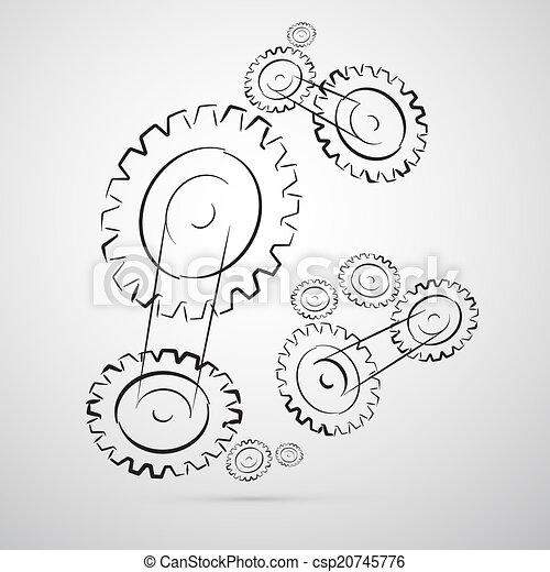 Cogs - Gears Vector Illustration - csp20745776