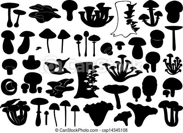 cogumelos, diferente, jogo - csp14345108