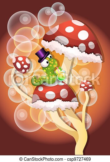 cogumelos, ilustração - csp9727469