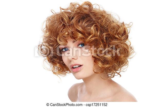 coiffure, bouclé - csp17251152