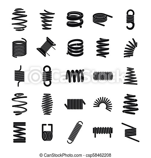 Coil spring Vector Clip Art Illustrations. 640 Coil spring clipart ...
