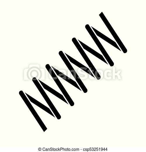 coil spring steel spring metal spring on white background eps rh canstockphoto com vector spring vector springfield mo