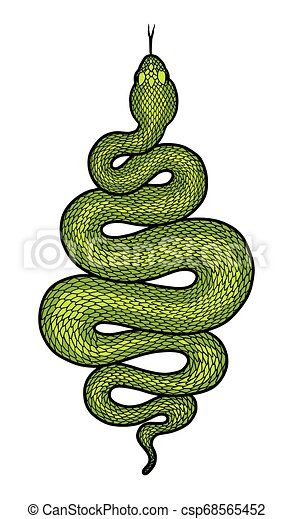 Green Snake Reptile Nature Giant Poster Print