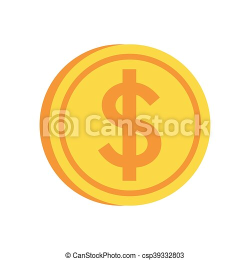 Coin Gold Money Market Icon Isolated And Flat Illustration