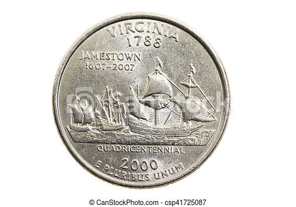 Coin In A Quarter Of The Us Dollar Csp41725087
