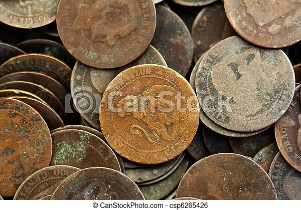 coin peseta real old spain republic 1937 currency and cents - csp6265426