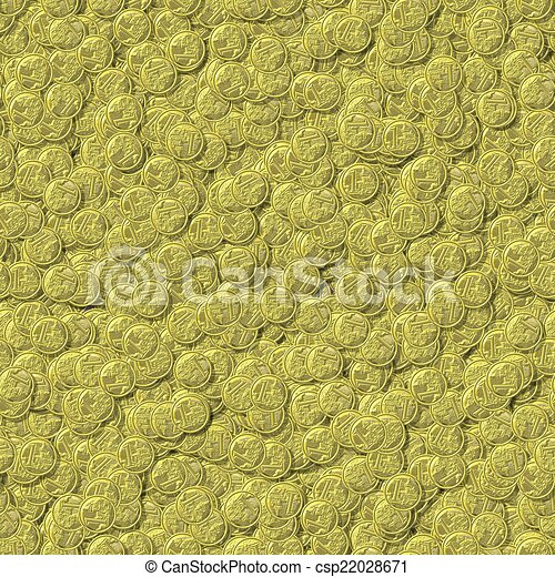 Coin seamless generated texture background - csp22028671