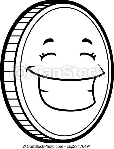 Coin Smiling - csp23476491