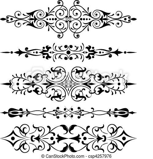 coin, vecteur, fleur, conception, élément - csp4257976