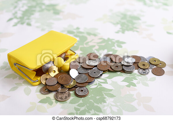 Coins and purse - csp68792173