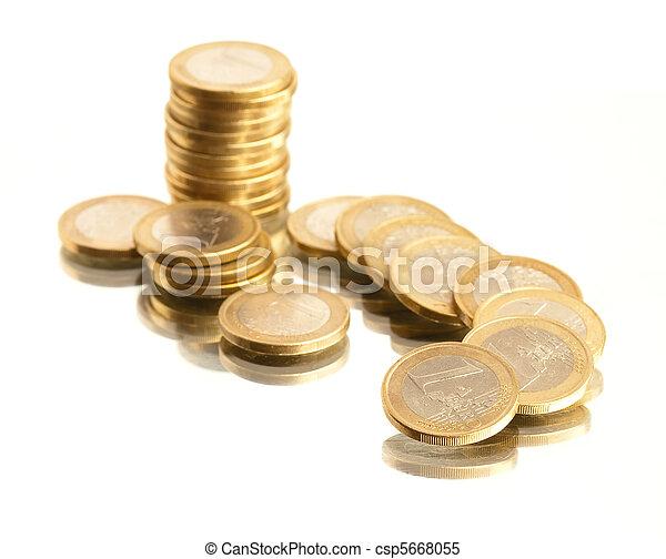 Monedas Euro - csp5668055