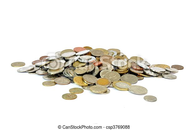 Coins from all around the world - csp3769088