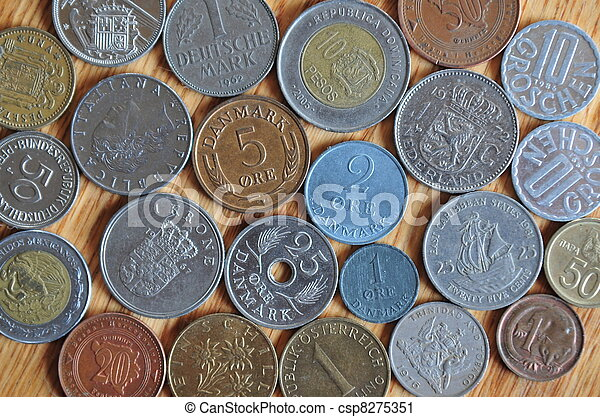 Coins From Around The World - csp8275351