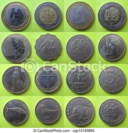 coins from around the world - csp14140894