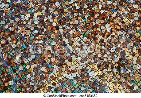 Coins in a Fountain - csp8453650