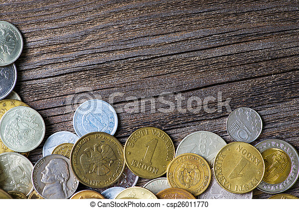 coins of different countries and times - csp26011770