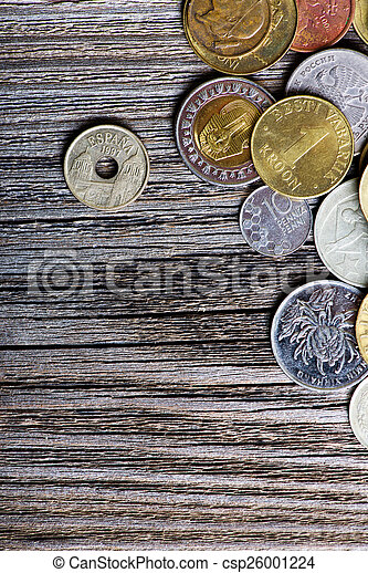 coins of different countries and times - csp26001224