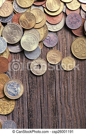 coins of different countries and times - csp26001191