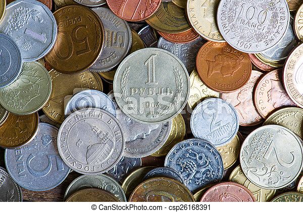 coins of different countries and times - csp26168391