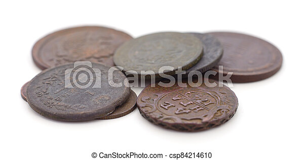 Coins of the Russian Empire isolated. - csp84214610