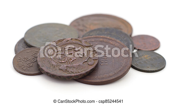 Coins of the Russian Empire isolated. - csp85244541