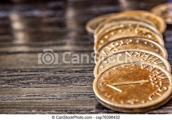 Coins on the table. - csp76398432
