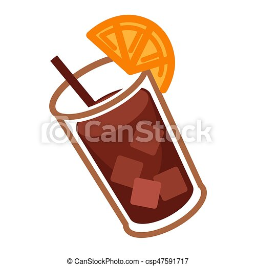 coke cocktail with citrus vector illustration of glass of rh canstockphoto com cocktail clip art free images cockatiel clip art