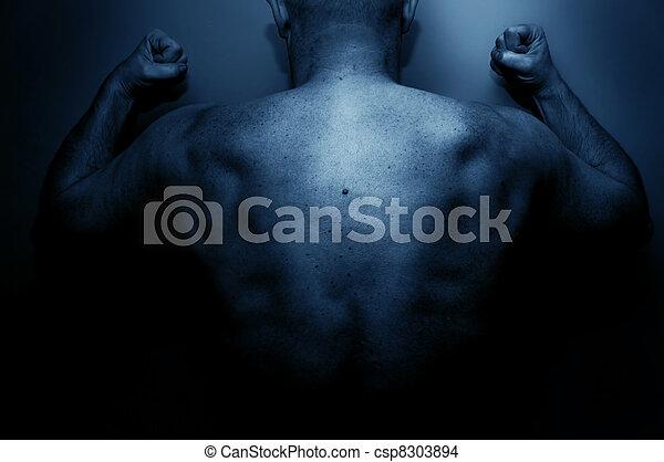 colère, sien, frustré, exprimer, homme - csp8303894