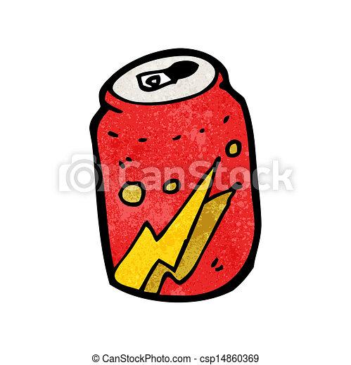 Una lata de cola de cartón - csp14860369