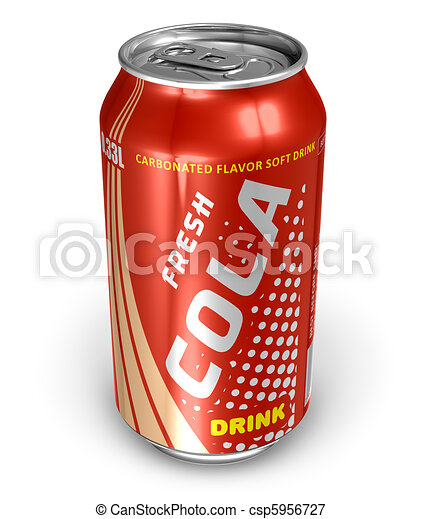 Cola drink in metal can - csp5956727