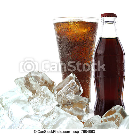 Cola drink with ice - csp17684863