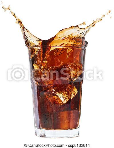 cola splash on a white - csp8132814