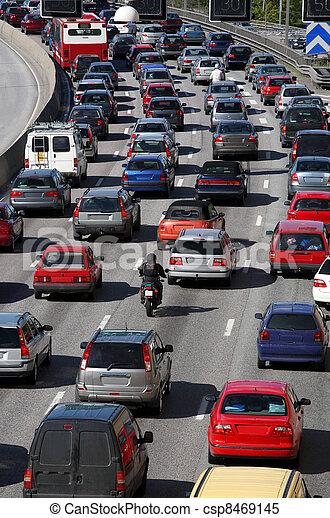 cola, tráfico - csp8469145