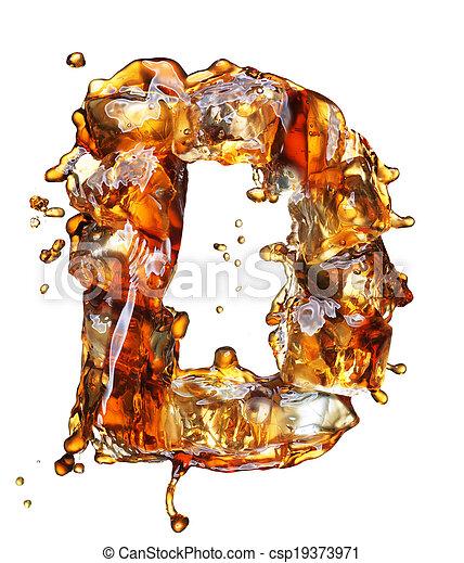 cola with ice alphabet - csp19373971