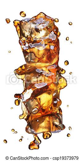 cola with ice alphabet - csp19373979