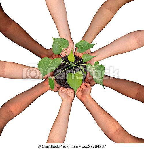 Colaboración comunitaria - csp27764287