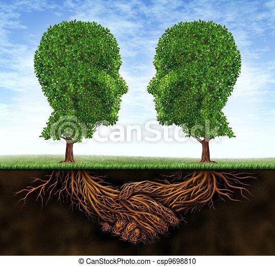 Colaboración de negocios y crecimiento - csp9698810