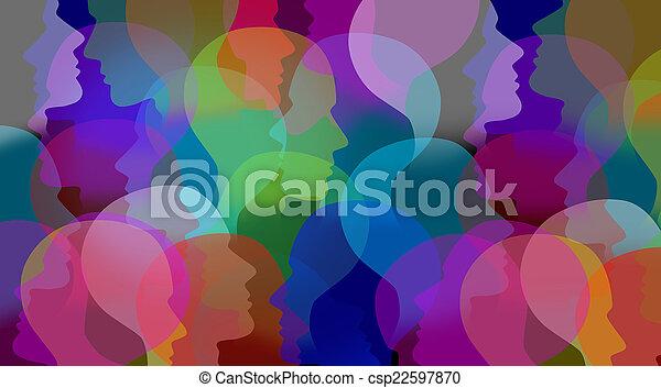 colaboración, social - csp22597870