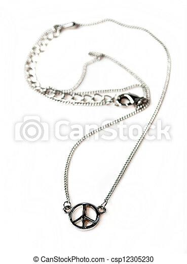 colar, jóia - csp12305230
